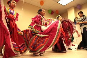 Students in the Yonkers Dominican Cultural Association's arts program perform a dance at the ribbon-cutting ceremony Friday, Jan. 11, 2013, for the group's new educational space at the Jackson Terrace Herriot Street housing complex in southwest Yonkers. The space is being donated by Peekskill-based Marathon Development Group. / Marathon Development Group